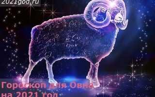 Гороскоп для Овна на 2021 год