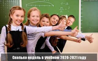 Сколько недель в учебном 2020-2021 году