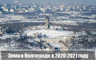 Какой будет зима 2020-2021 в Волгограде