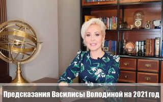 Василиса Володина: предсказания на 2021 год