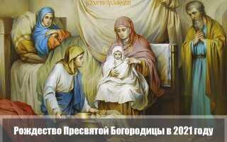 Рождество Пресвятой Богородицы в 2021 году