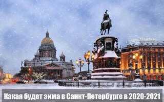 Какая будет зима в 2020-2021 в Санкт-Петербурге