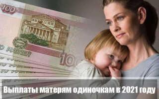 Выплаты матерям одиночкам в 2021 году