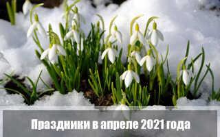 Праздники апреля 2021 года в России