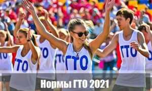 Нормы ГТО 2021 год для школьников