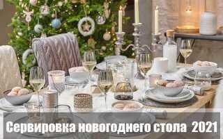 Как украсить стол к Новому 2021 году: декор и сервировка
