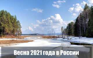 Какая будет весна 2021 года в России