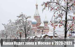 Какой будет зима в 2020-2021 в Москве