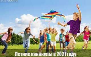 Летние каникулы в 2021 году: когда начинаются