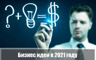 Бизнес идеи в 2021 году