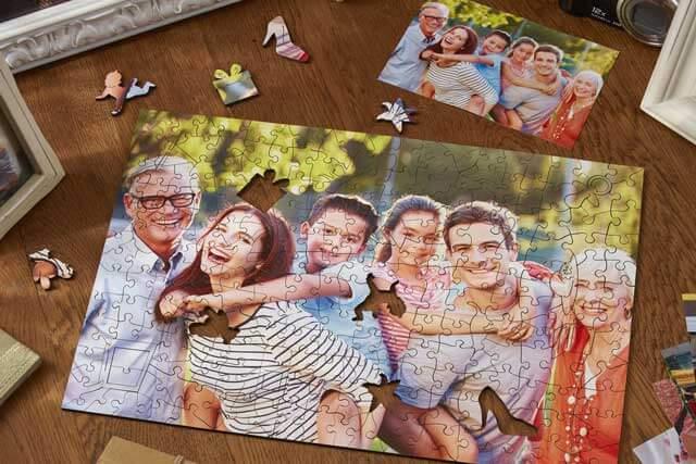 пазл с семейным фото