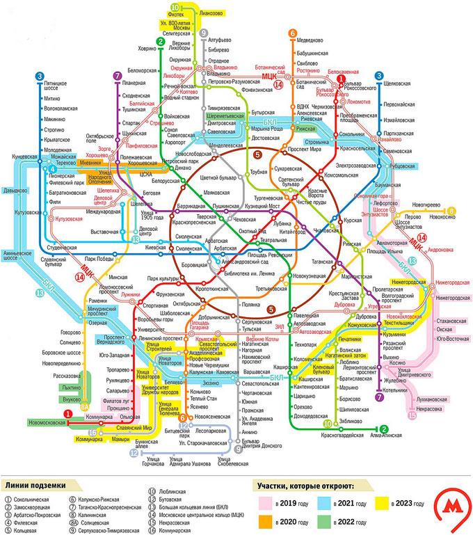 расширение москвы, схема метро 2021