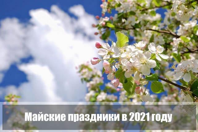 майские праздники в 2021 году